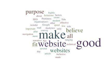 What Makes a Website 'Good'?