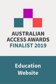 Education Website of the Year Finalist badge